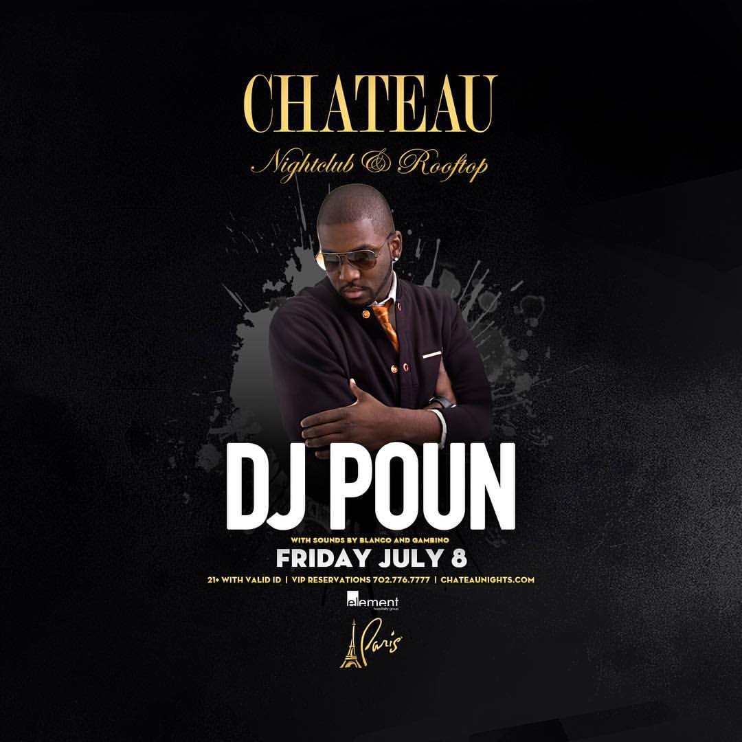 DJ Poun at Chateau Nightclub Flyer